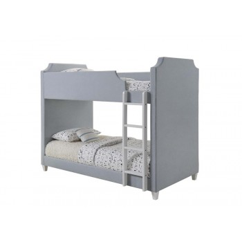 GILROY COLLECTION - Gilroy Traditional Grey Twin-over-Twin Bunk Bed