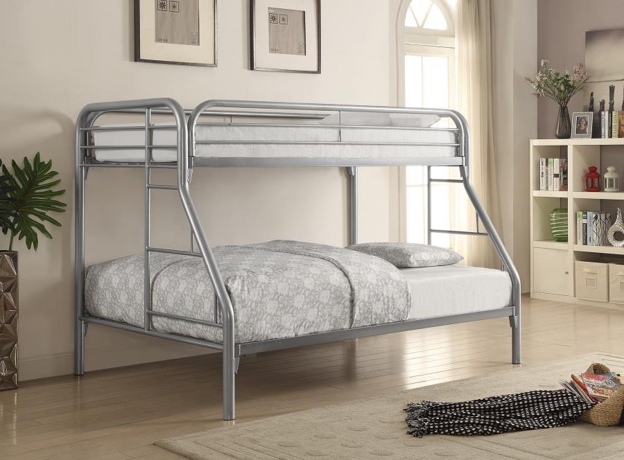 Morgan Bunk Bed Morgan Twin Over Full Silver Bunk Bed 2258v