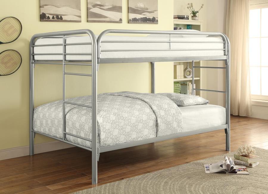 MORGAN BUNK BED - Morgan  Silver Full Bunk Bed
