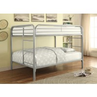 MORGAN BUNK BED - Morgan  Silver Full Bunk Bed
