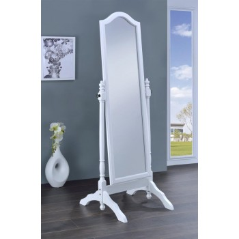 Transitional White Cheval Mirror