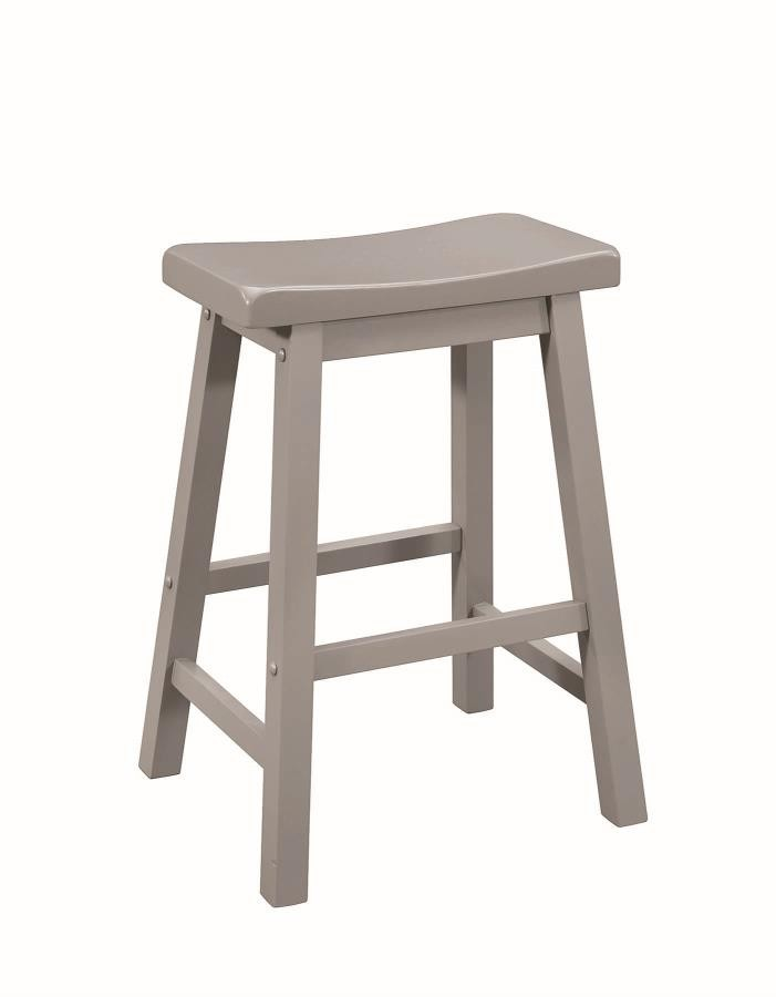 Casual Grey Counter Height Stool Pack Of 2 180178 Bar Stools