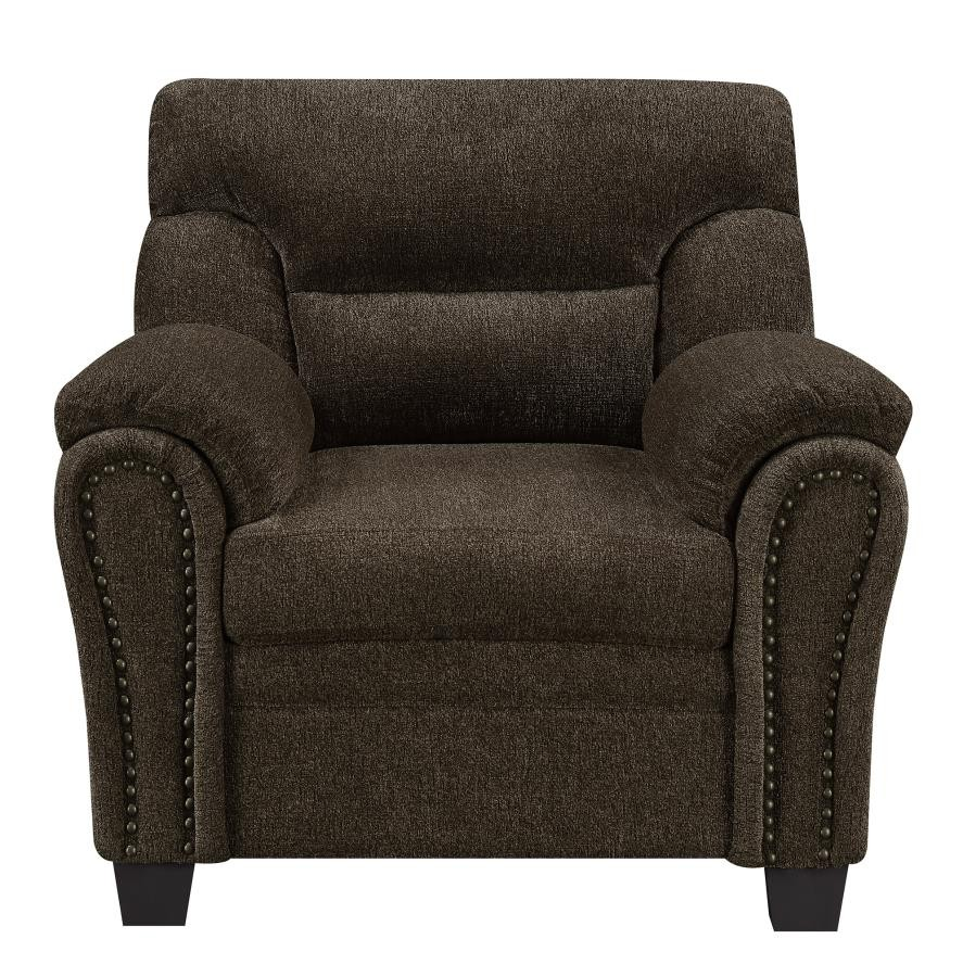 Furniture Factory Outlet: Clementine Casual Brown Chair