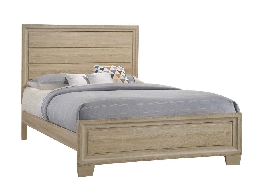 VERNON COLLECTION - Vernon Transitional Whitewashed Oak Queen Bed