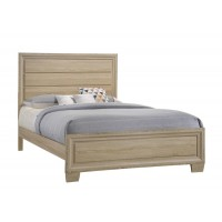VERNON COLLECTION - Vernon Transitional Whitewashed Oak Eastern King Bed