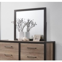 EDGEWATER COLLECTION - Edgewater Industrial Weathered Oak Mirror