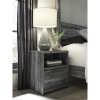 Baystorm - Gray - One Drawer Night Stand