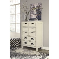 Blinton - White - Five Drawer Chest