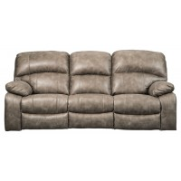 Dunwell - Driftwood - PWR REC Sofa with ADJ Headrest