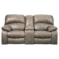 Dunwell - Driftwood - PWR REC Loveseat/CON/ADJ HDRST