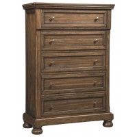 Flynnter - Medium Brown - Five Drawer Chest