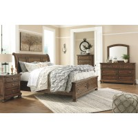 Flynnter - Medium Brown - Two Drawer Night Stand
