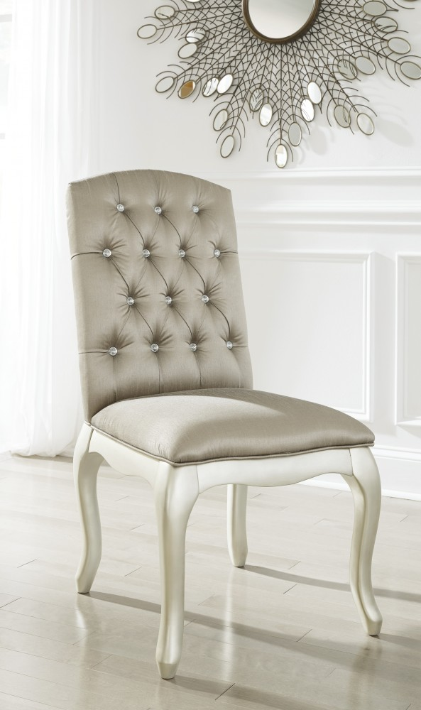 Cassimore - Pearl Silver - Upholstered Chair (1/CN)