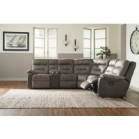 Hacklesbury Left-Arm Facing Power Reclining Loveseat with Console