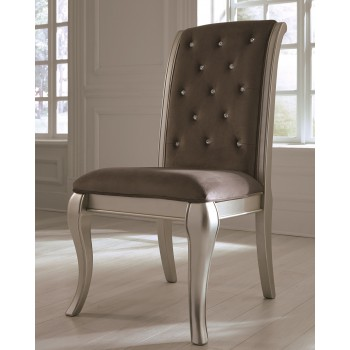 Birlanny - Silver - Dining UPH Side Chair (2/CN)