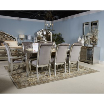 Birlanny - Silver - Dining UPH Arm Chair (2/CN)