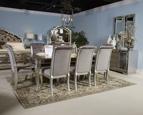 Birlanny   Silver   RECT Dining Room EXT Table