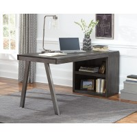 Raventown - Grayish Brown - Bookcase Desk Return