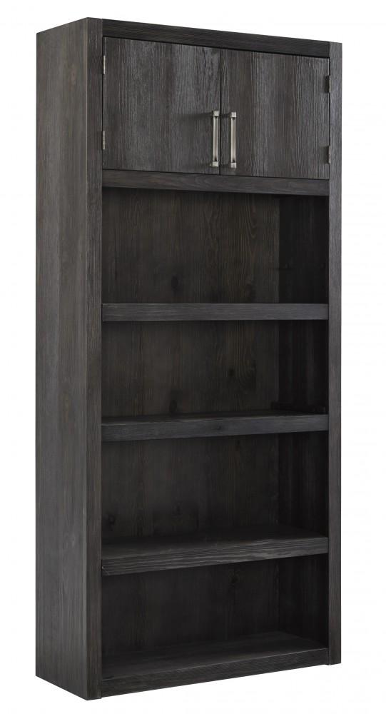 Raventown - Grayish Brown - Large Bookcase