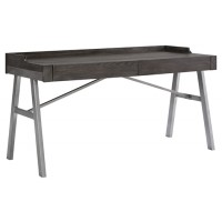 Raventown - Grayish Brown - Home Office Desk