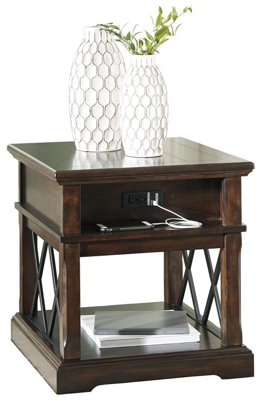 Roddinton   Dark Brown   Rectangular End Table