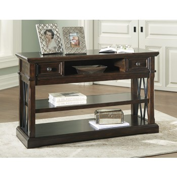 Roddinton - Dark Brown - Sofa Table