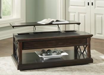 Roddinton - Dark Brown - Lift Top Cocktail Table