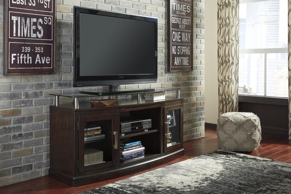 Chanceen Dark Brown Medium Tv Stand Fireplace Opt W757 48 Tv
