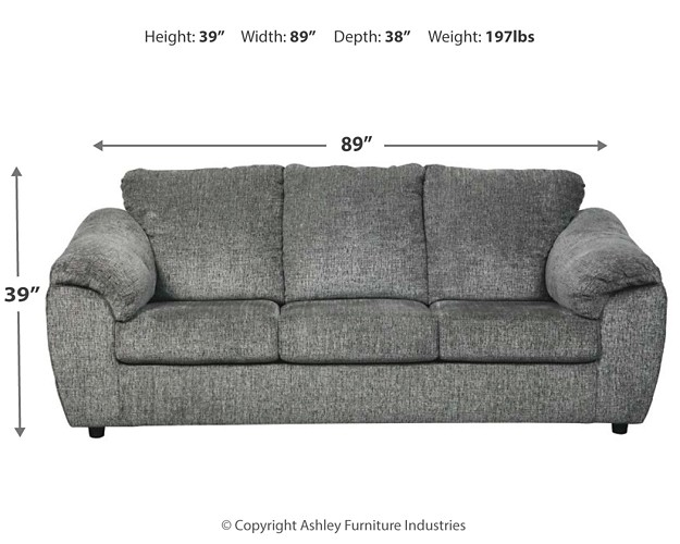 Azaline - Slate - Full Sofa Sleeper