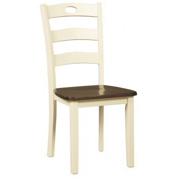 Woodanville - White/Brown - Dining Room Side Chair (2/CN)