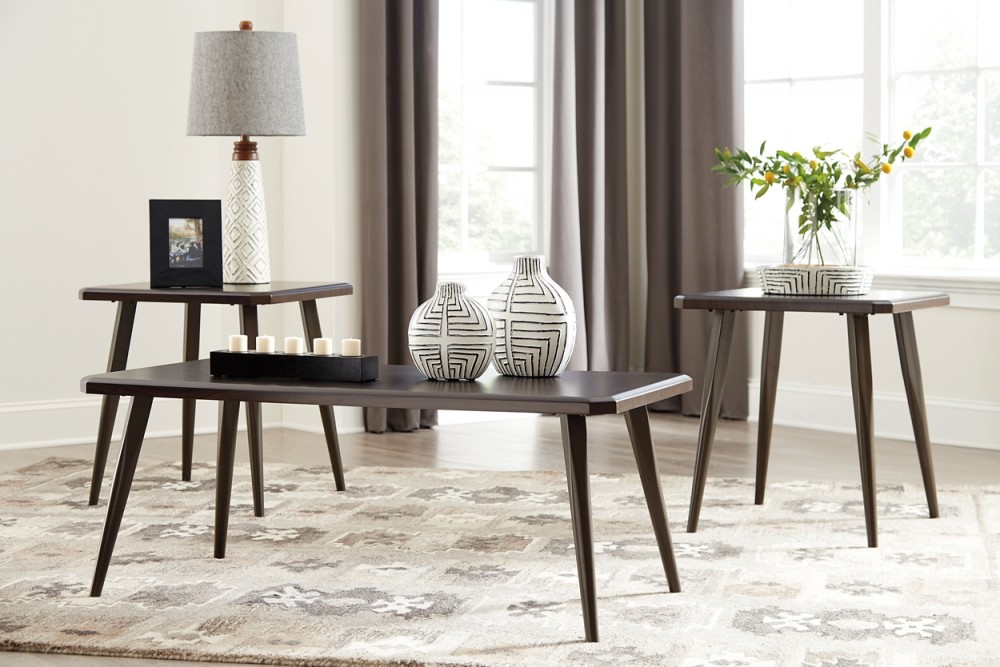 Fazani - Dark Brown - Occasional Table Set (3/CN)