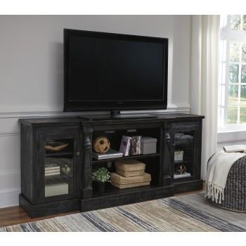 Mallacar - Black - XL TV Stand w/Fireplace Option