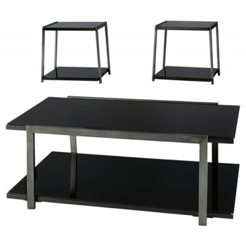 Rollynx - Black - Occasional Table Set (3/CN)