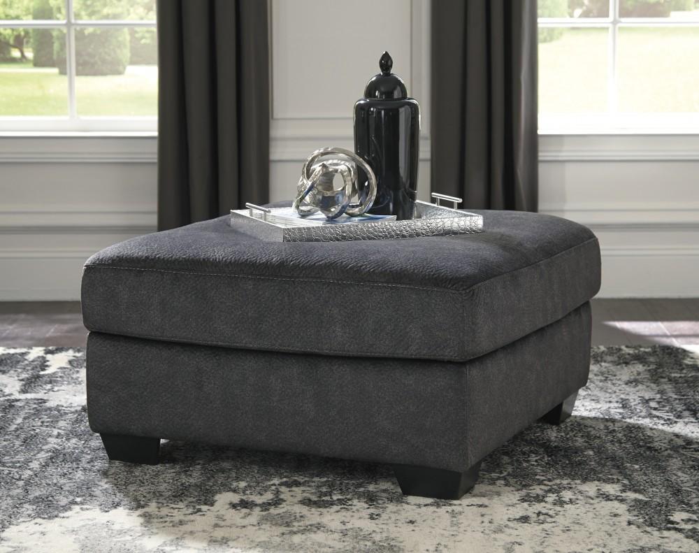Accrington - Granite - Oversized Accent Ottoman