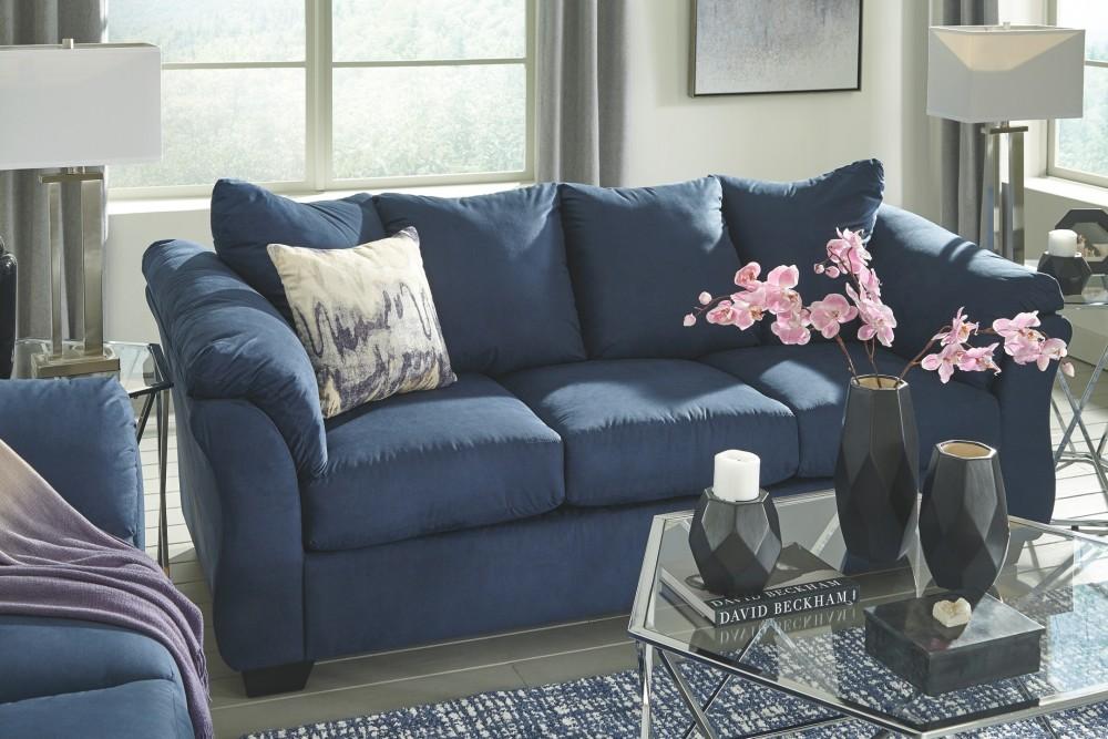 Darcy - Blue - Full Sofa Sleeper