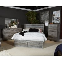 Baystorm - Gray - King Storage Footboard