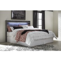Baystorm - Gray - King Panel Headboard