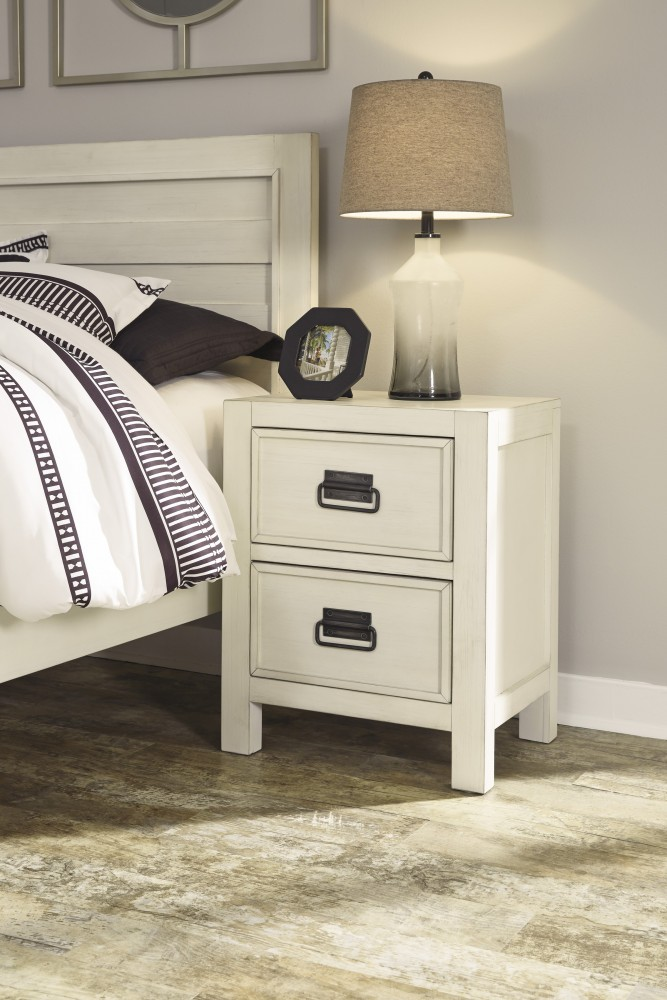 Blinton - White - Two Drawer Night Stand