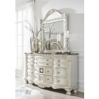 Cassimore - Pearl Silver - Bedroom Mirror