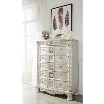 Cassimore - Pearl Silver - Five Drawer Chest