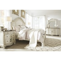 Cassimore - Pearl Silver - Queen Panel Headboard