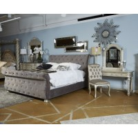 Cassimore - Pearl Silver - King Upholstered Rails