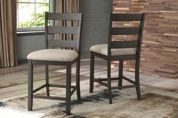 Rokane - Brown - Upholstered Barstool (2/CN)