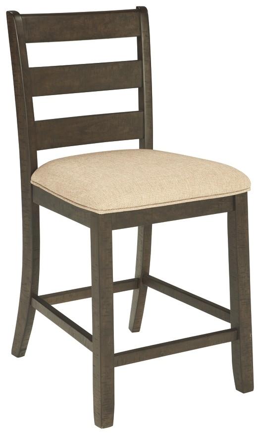 quality design df5e4 ac2a7 Rokane - Brown - Upholstered Barstool (2/CN)
