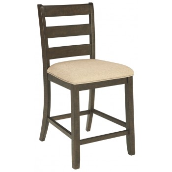 Rokane - Brown - Upholstered Barstool (2/CN)