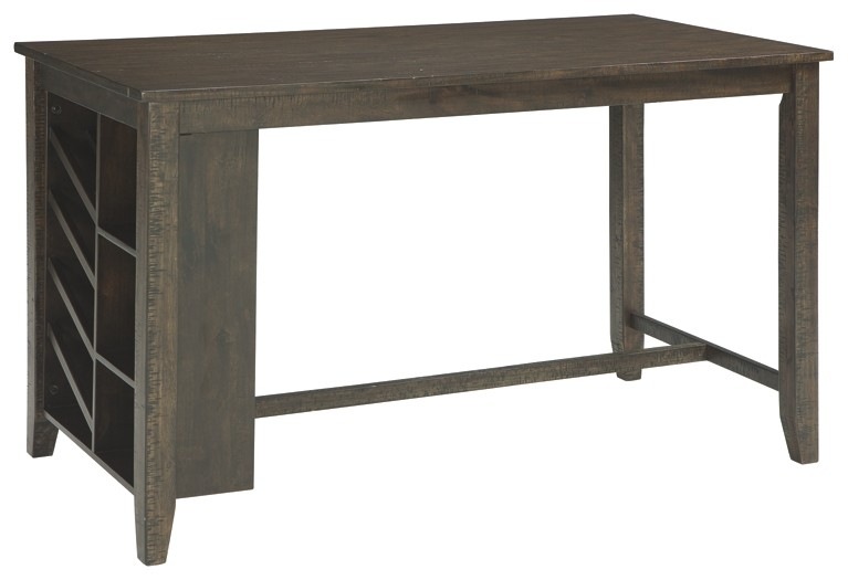 Rokane - Brown - RECT Counter Table w/Storage