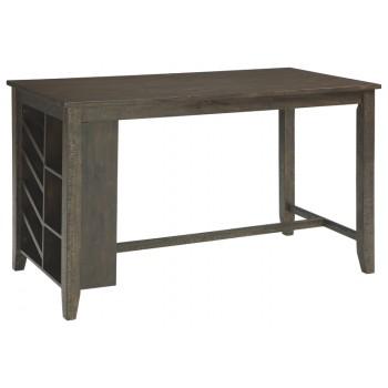 Rokane - Brown - RECT Counter Table w/Storage