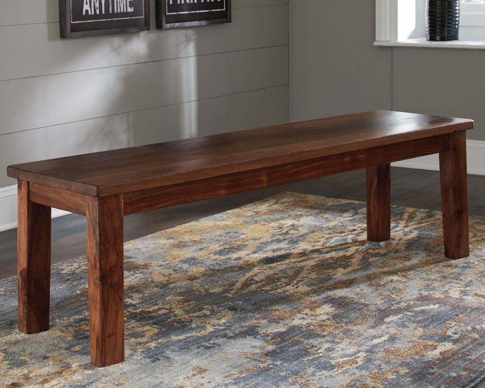 Manishore brown dining room bench