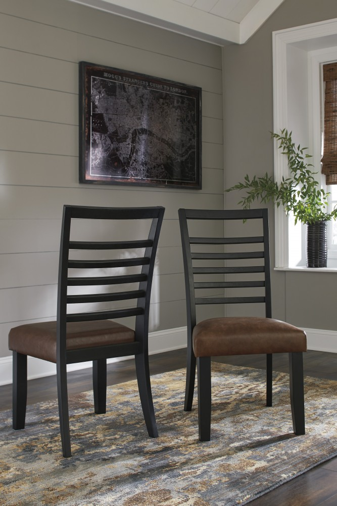Manishore - Brown - Dining UPH Side Chair (2/CN)