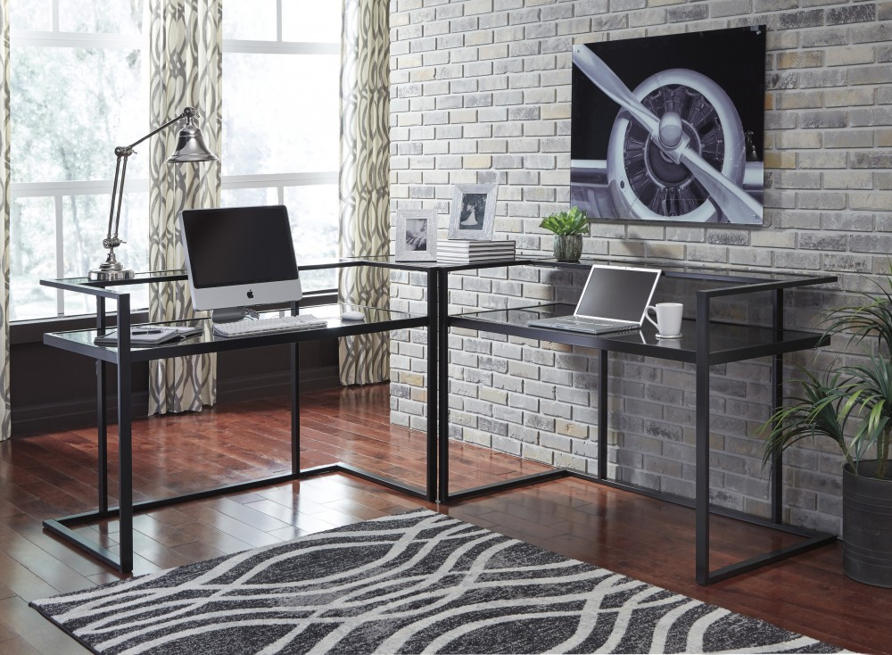 Gentil Laney   Black   Home Office Corner Desk